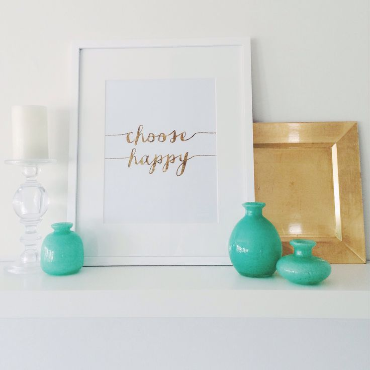 Etsy is such a great resource these days- this print was an inexpensive and simple download from a graphic designer. The jade glassware is a great pop of color.  Golds continue to fascinate and yes, that is a square table charger on the right. #theshelf #therealshelflife #choosehappy #ikeashelf #ikeashelfstylingideas #ikea #lackshelf #lovethislook #goldsparkle #whiteonwhite #popofcolor #designideas #shelfstyling #stylingwithgold #shelfdesignideas #anotherdayanothershelf #etsy #etsyfan…