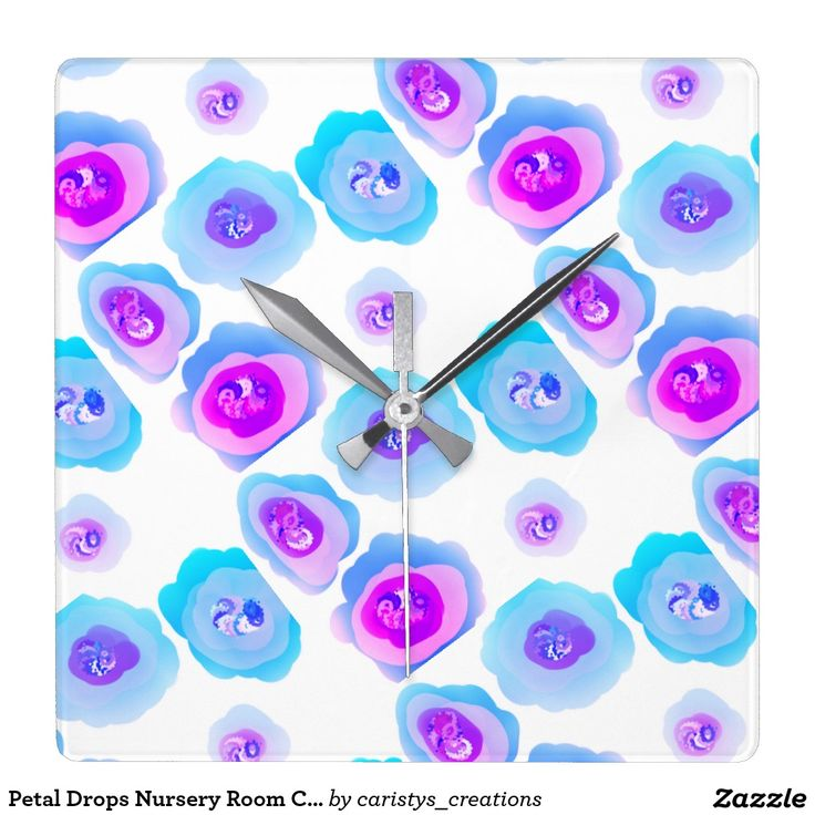 Petal Drops Nursery Room Clock