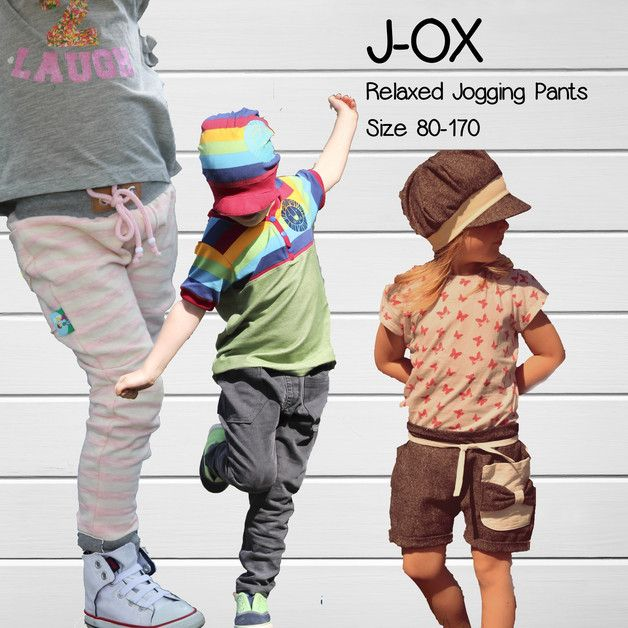 Relaxed Jogging Pants J-OX . Das Ebook Relaxed Jogging Pants J-OX beinhaltet eine ausführliche Anleitung & Schnittteile für eine bequeme Hose bis Gr 170