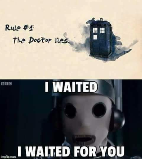 I CALLED that she was gonna be the first Cyberman!!! AND I CAN'T BELIEVE TWELVE IS LEAVING