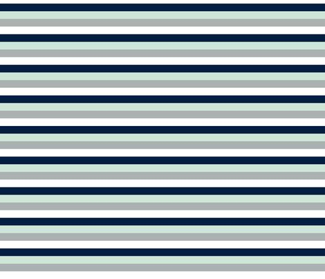 Stripes // Navy/Grey/Mint/White - Northern Lights Collection fabric by littlearrowdesign on Spoonflower - custom fabric