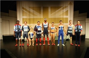 The Olympians and Paralympians show off the Adidas Team GB Olympic kit designed by Stella McCarteny