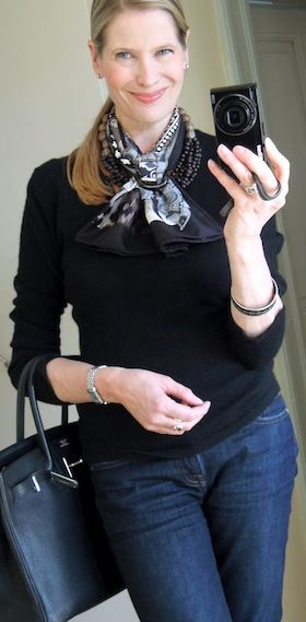 MaiTai's Picture Book: Hermes scarf and necklace combination