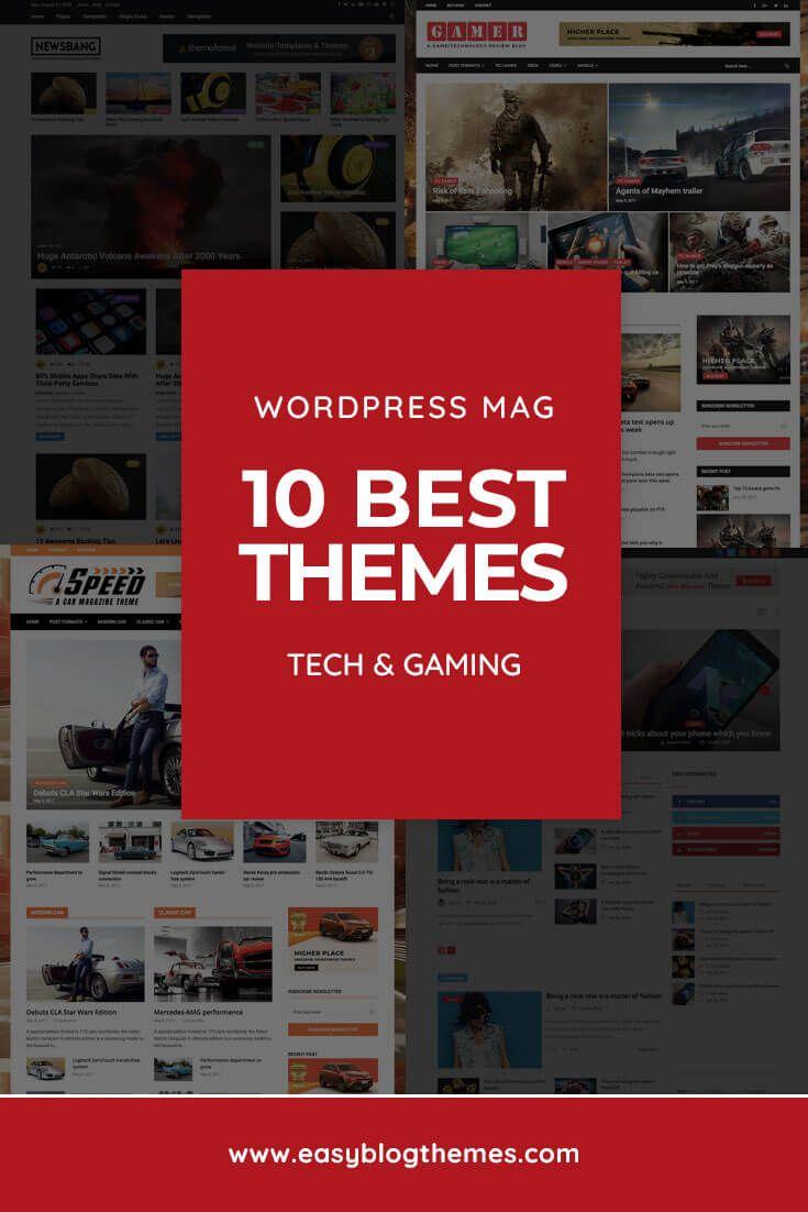 10 Best Premium WordPress Themes for Tech & Gaming Blogs (2019