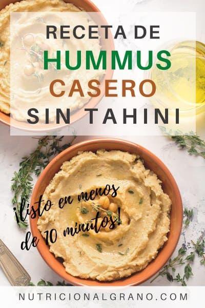 Fácil Receta de Hummus Casero Sin Tahini: Listo en 10 Minutos - Nutrición al Grano Hummus Sin Tahini, Healthy Food, Healthy Recipes, Fresco, Veggies, Appetizers, Lunch, Ethnic Recipes, Nutritional Recipes