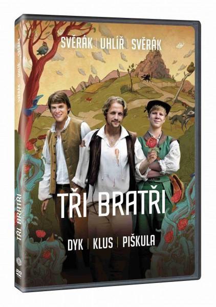 Oblíbená česká pohádka s Vojtou Dykem a Tomášem Klusem Tři bratři na DVD.