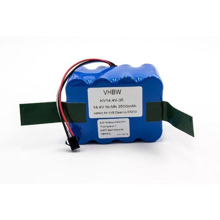 vhbw NiMH batterie 3500mAh (14.4V) pour robot aspirateur Home Cleaner robots domestiques Roreland XR-210