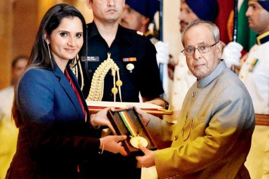 """Tennis star Sania Mirza received the Rajiv Gandhi Khel Ratna, the country's highest sporting honour on Saturday, while 12 others, including ace shooter Jitu Rai and hockey goalkeeper PR Sreejesh were conferred with the Arjuna Award. Sania said it was a """"huge honour"""" to be conferred with the Rajiv Gandhi Khel Ratna and the recognition will push her...  Read More"""