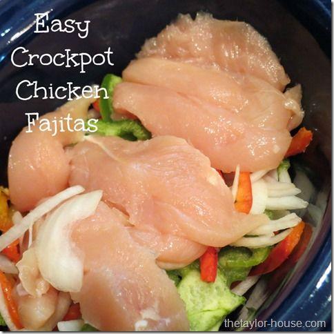 Easy Recipes: Crockpot Chicken Fajitas