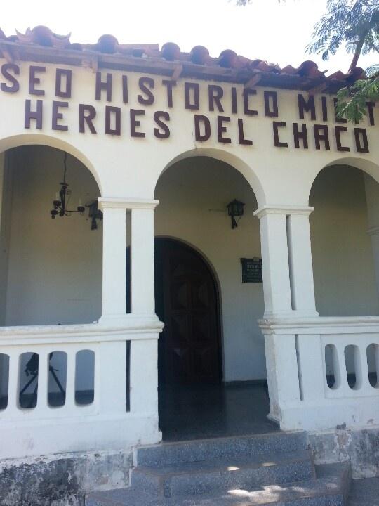 Frontis del museo histórico militar de la guerra del Chaco