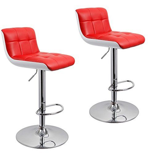 Bar Stool Duhome Wy 205 Faux Leather And Abs Plastic Bar Stools Set Of 2 Red White Adjustable Chairs Tall Bar Stools Bar Stools