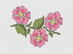 Wild Rose cross stitch pattern