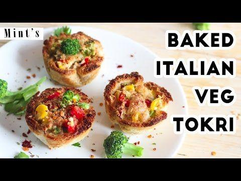 Baked Italian Veg Tokri Recipe In Hindi  Breakfast Recipes  Party Snacks Recipes  EP-177