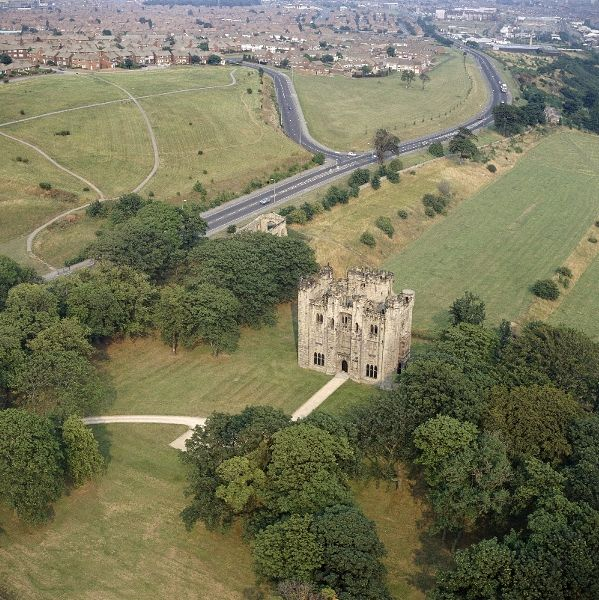 Aerial View Of Hylton Castle © Skyscan Balloon Photography