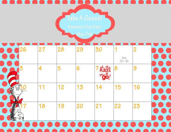 Calendar Shower Ideas : Printable due date calendar baby shower game guess