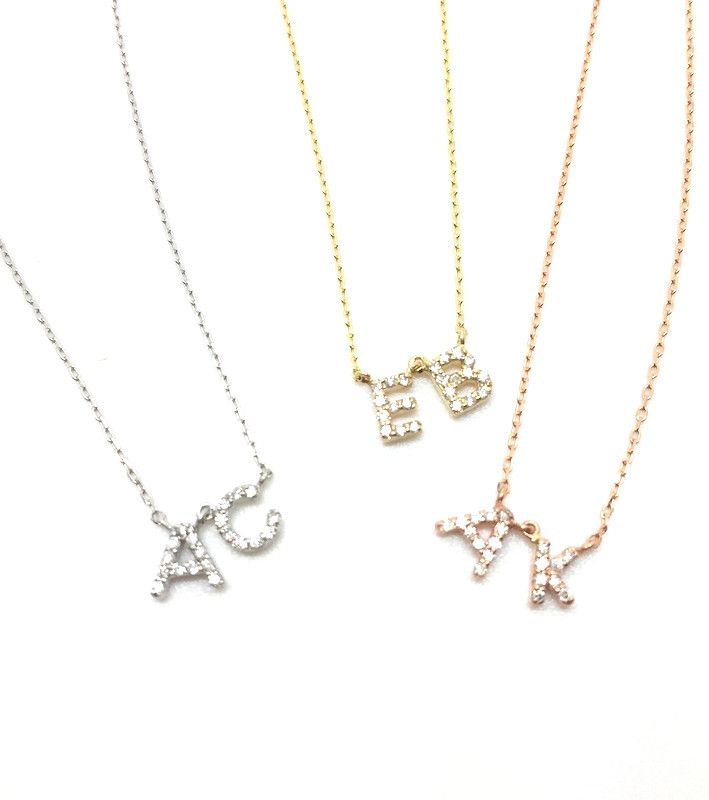 Petit Diamond Initial Necklace – MUSE REFINED
