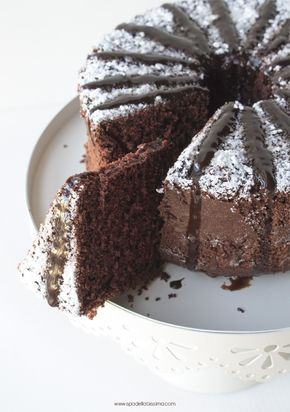 Chocolate Cake with Chocolate Syrup #GlutenFree
