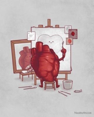 ´.Heart Drawing, Nachos, Heart Anatomy, Norman Rockwell, Self Portraits, Illustration, Heart Painting, Heart Art, T Shirts