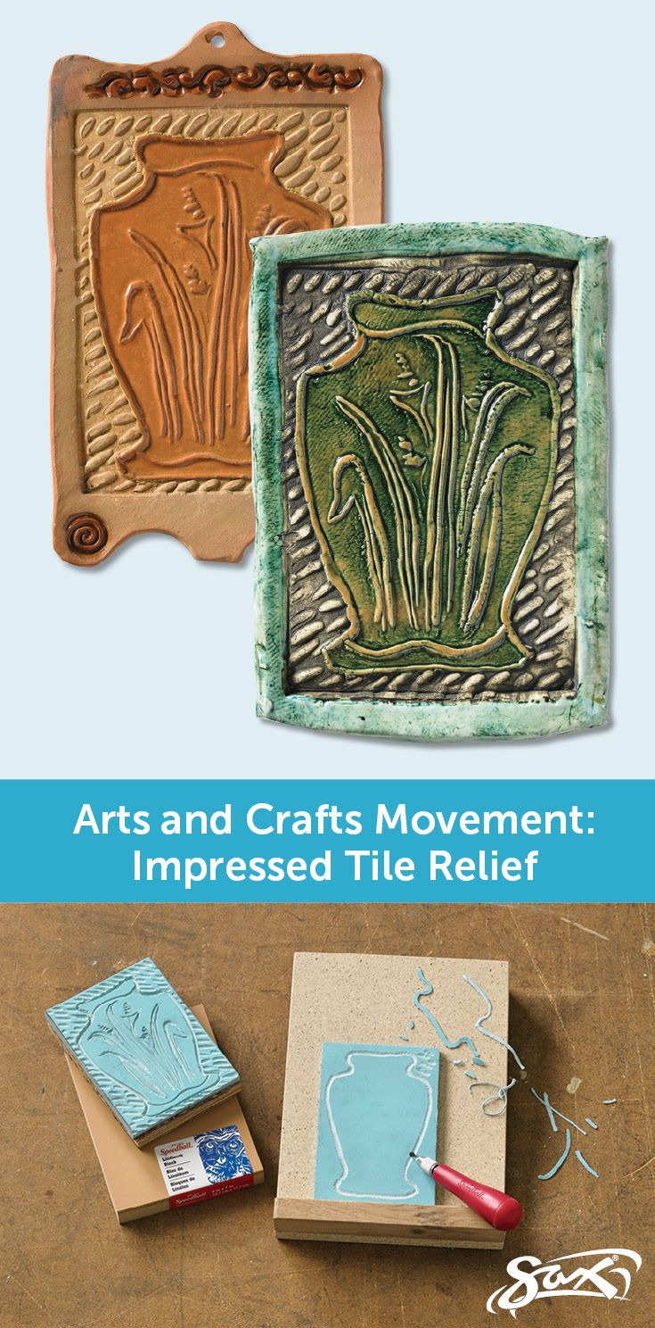 The Arts and Crafts Movement was the result of an artistic reaction to the uniformity of the industrial revolution and mass production of items. Artists sought to make work with a hand-crafted look. Studnets will create their own hand-crafted impressed tile relief with this art lesson plan. Complete directions and materials list included, along with correlation to National Core Arts Standards, grade levels and objectives. Created by our Sax Art Consultants.