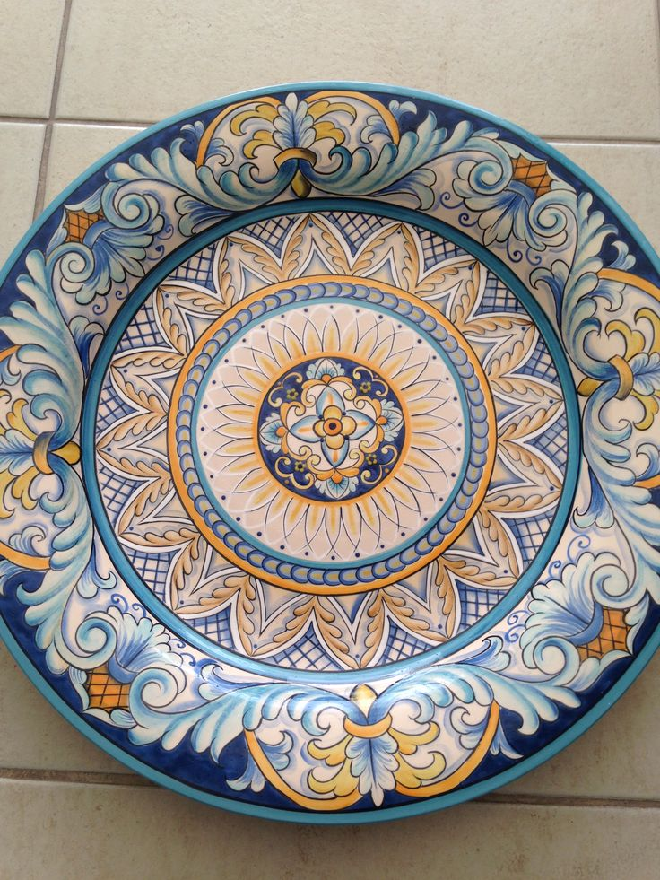 Pin by paula rizzo on diy cer micas paula rizzo for Diy ceramic plates