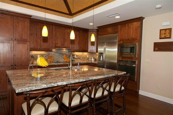 Superbe ... Hawaii Kitchen With Shaker Style Mahogany Cabinets For Kitchen Cabinets  Hawaii ...