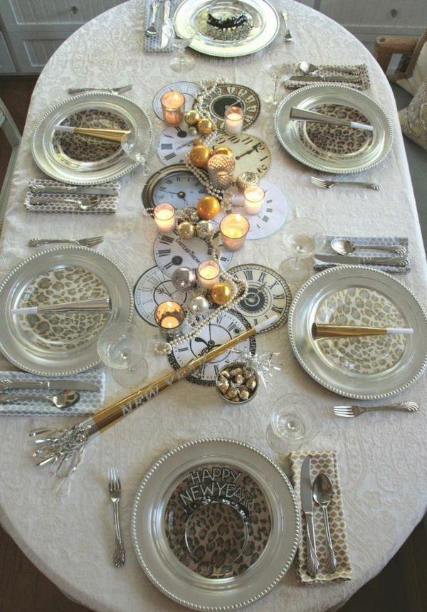 Silvester Deko - leichte und schnelle Tischdekoideen für die Gastgeber
