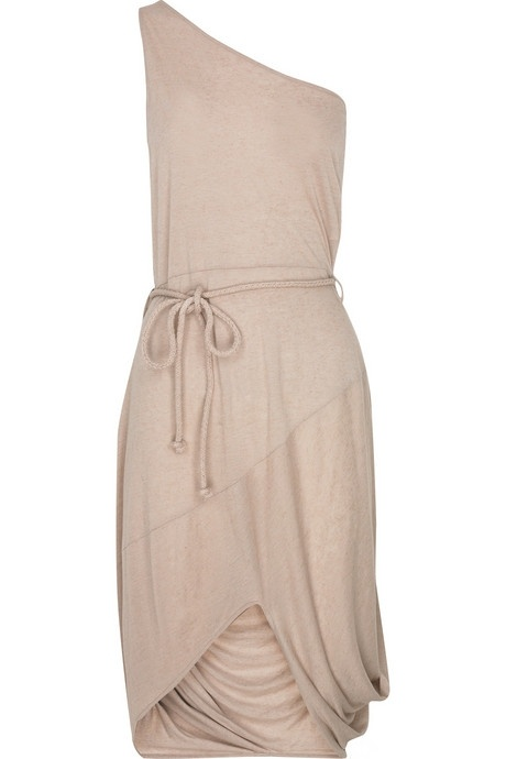 tan bridesmaid dress, relaxed, and soft. I'd swap the belt with something more formal and to match flowergirls