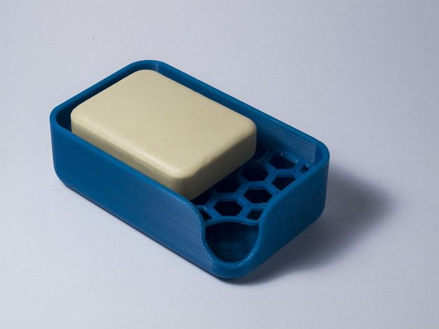 piuLAB's Soap Holder design is as clean as the soap it's holding. Spruce up your bathroom by printing one in your favorite color. http://thingiverse.com/thing:404028