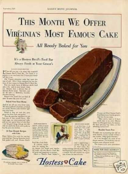 Hostess Cake (1929) VIRGINIA'S MOST FAMOUS!