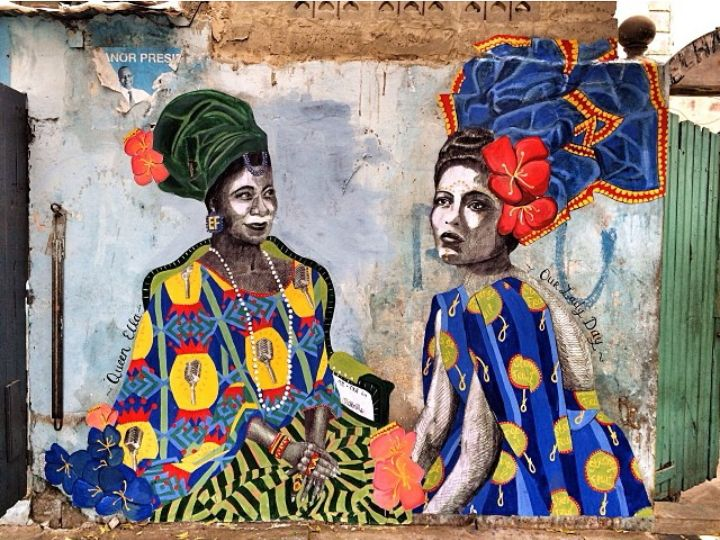 Montreal Street Artist Miss Me Paints Murals in Dakar, Senegal
