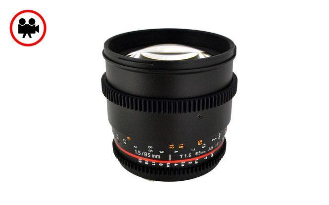 Samyang 85mm T1.5 Tele Sinema Serisi Objektif | filmekipmanlari.com  Rezervasyon & Bilgi için: 0533 548 70 01 info@filmekipmanlari.com http://filmekipmanlari.com/kiralik-samyang-85mm-t1-5-lens/