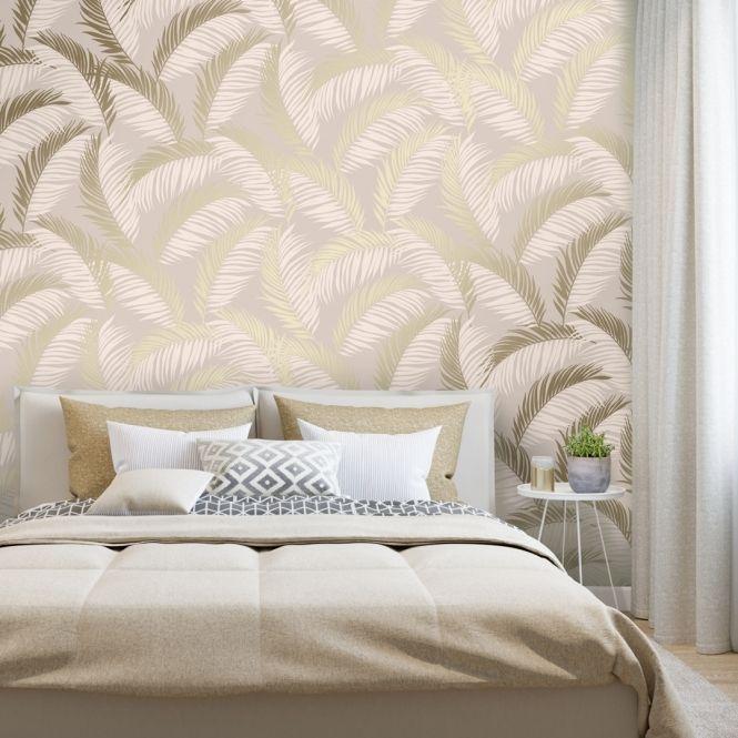 Vivienne Leaf Wallpaper Blush Gold Leaf Wallpaper Wallpaper Uk Wallpaper Living Room