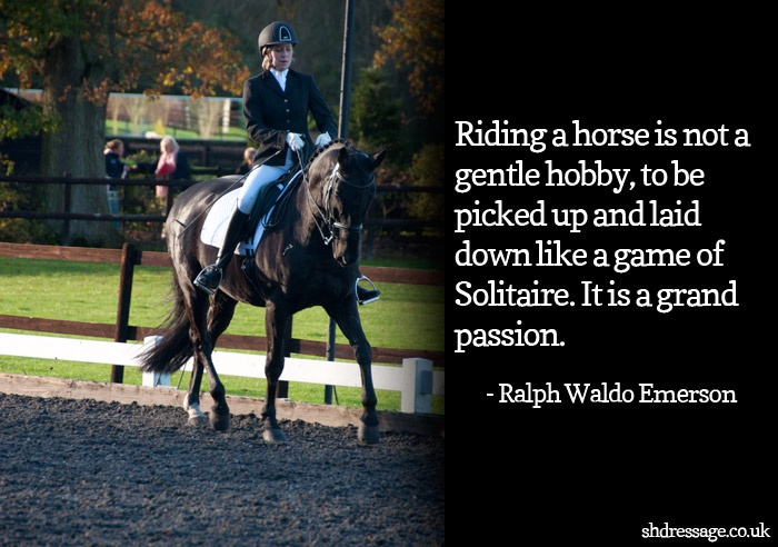 My hobby is riding horse