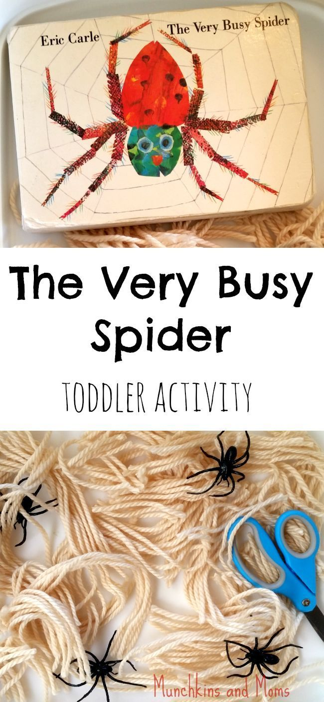 """Eric Carle's """"The Very Busy Spider"""" toddler and preschool activity"""