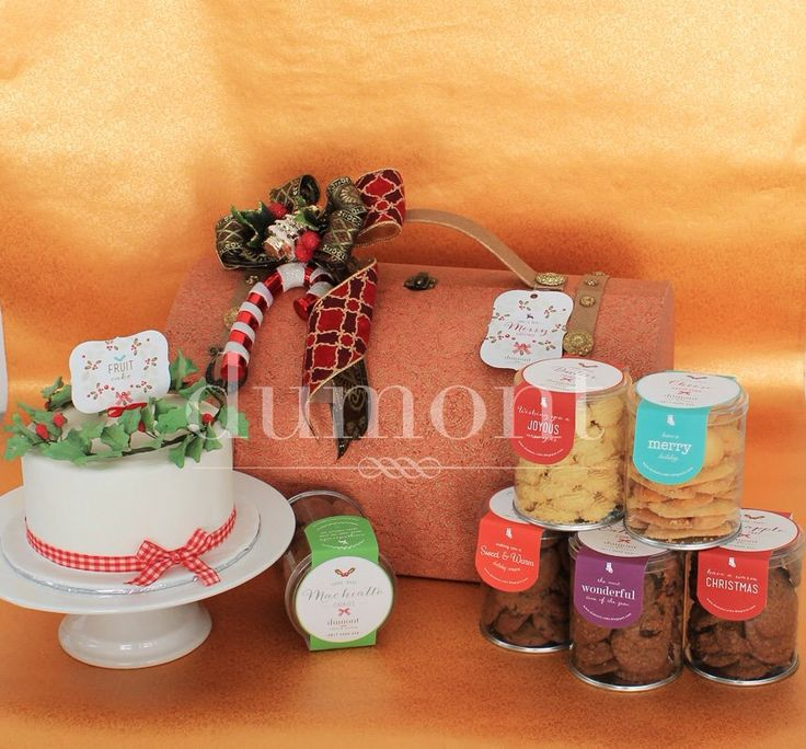 Holy wreath cake and 6 jars of our signature home made cookies in a set