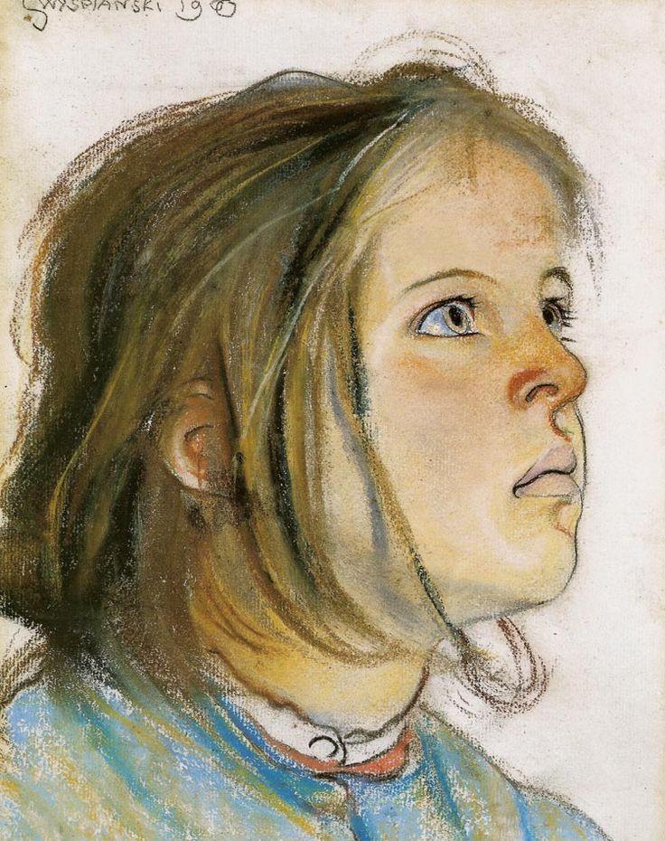 """Stanislaw Wyspianski """"Helenka"""", 1900, pastel, 34.5 x 25 cm, National Museum, Wroclaw"""