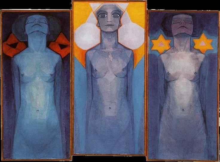 Piet Mondrian - Evoluzione - 800 × 587 olio su tela - 1911