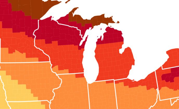 The Map That Shows You When And Where To View Fall Foliage In Michigan