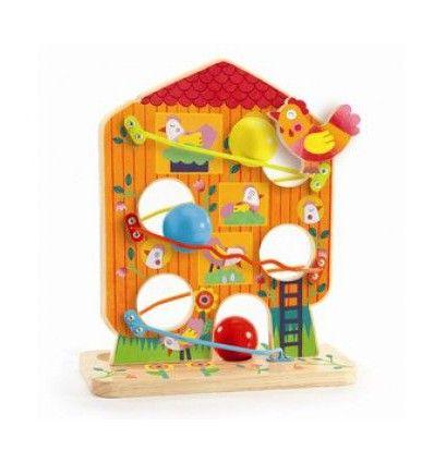 Zręcznościowa zabawka drewniana kura Djeco 18+