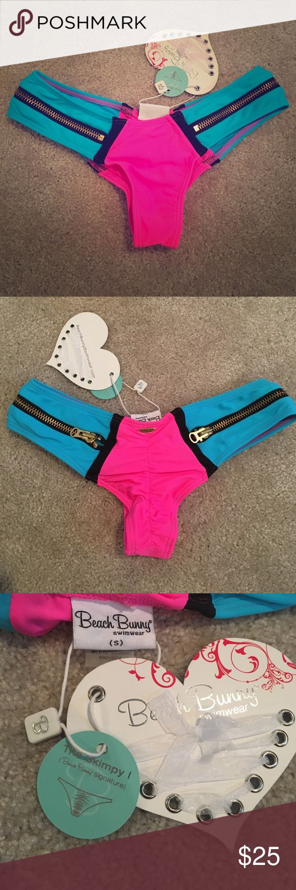 NWT Beach Bunny Swim 'The Skimpy' Bottoms, Small Beach Bunny Swimwear 'The Skimpy' Bottoms, size small. Comes from smoke-free home! Beach Bunny Swim Bikinis