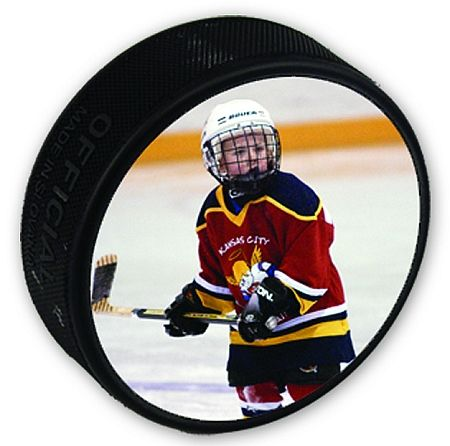 Personalized Photo Hockey Puck - Great Gift for the Hockey Coach, Team or Player.  - Photo Hockey Puck