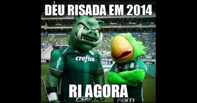 Torcedores do Palmeiras brincam com rivais na web
