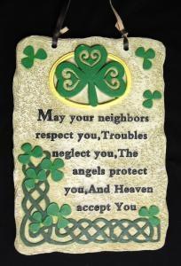 IRISH GARDEN PRAYER PLAQUE
