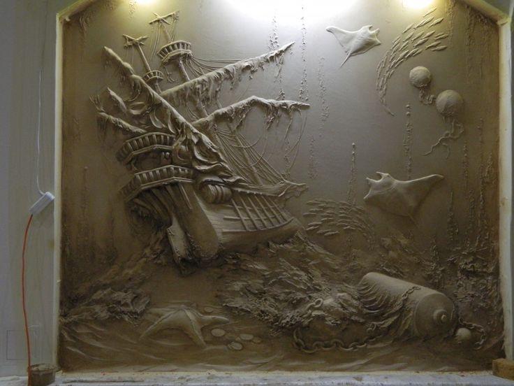 Best барельеф Images On Pinterest Plaster Art Sculptures - Artist uses drywall to create extraordinary sculptures