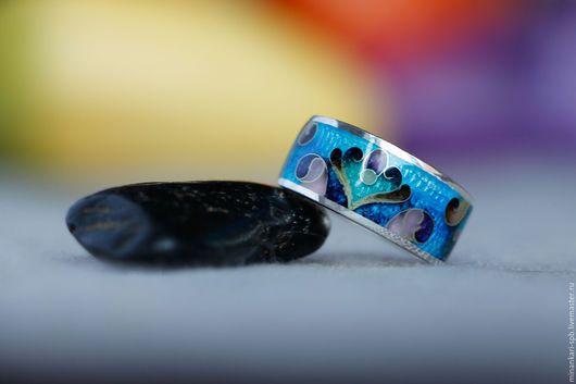 """Кольца ручной работы. Ярмарка Мастеров - ручная работа. Купить Кольцо """"Лотос"""" из серебра с эмалью. Минанкари. Handmade. Разноцветный"""