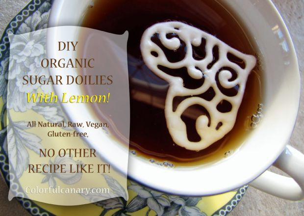 Picture of DIY: How To Make Organic Sugar Doilies With Lemon