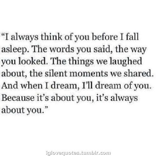 This used to be me. It was always about you.