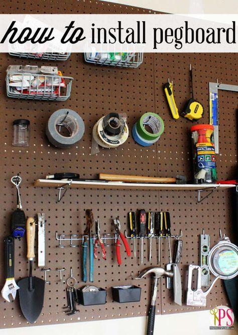 Los agujeros más útiles del mundo. Alabado sean los tableros de clavijas. Más información enPositively Splendid.