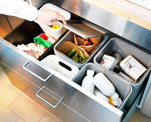 Muoviset RATIONELL-jäteastiat helpottavat jätteiden kierrättämistä