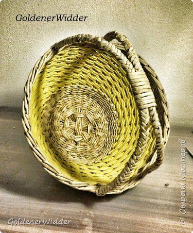 Мастер-класс Поделка изделие Плетение Послойное плетение двойными трубочками загибка-розга двойная ручка +MK Бумага газетная Трубочки бумажные фото 2